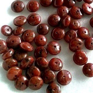 Jaspis červený korálky rondelky 6 mm