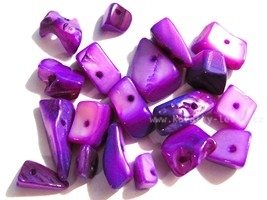 Perleťové korálky 8 - 20 mm fialová / 10 g