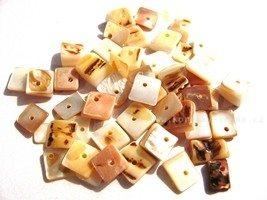 Perleťové korálky čtverce