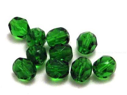 Korálky skleněné ohňovky 6 mm zelené