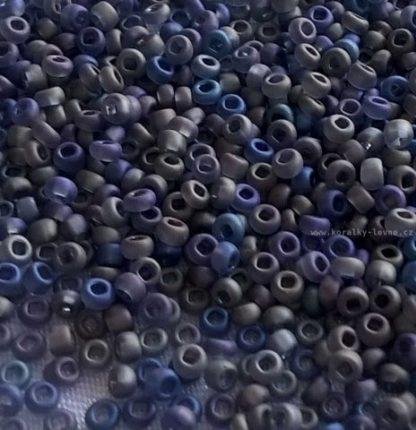 Rokajl PRECIOSA 11/0 metal modrý