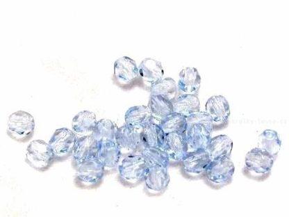 Korálky skleněné ohňovky 4 mm světle modré