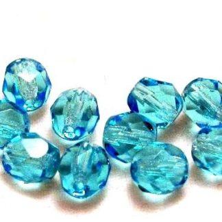 Korálky skleněné ohňovky 6 mm modré