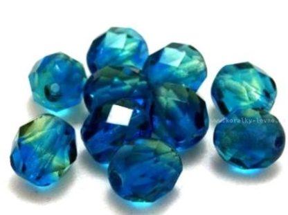 Korálky skleněné ohňovky 8 mm modré