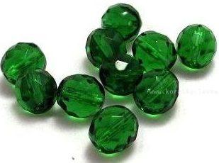 Korálky skleněné ohňovky 10 mm zelené