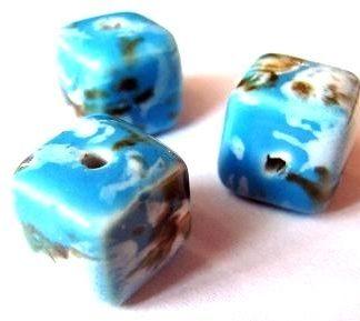 keramické kostky modré