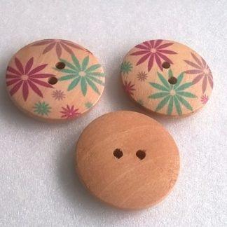 knoflíky dřevěné