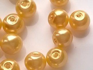 Perličky plast 6 mm žluté