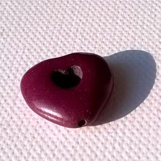 Korálky Howlit SRDCE 2 cm fialové