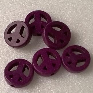 Korálky Howlit PEACE 1 cm fialový