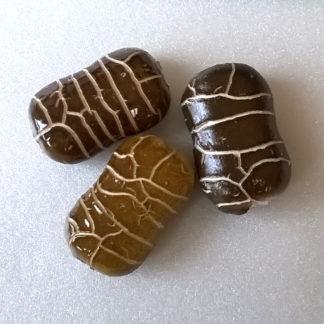 Korálky porcelán 30 x 20 x 12 mm hnědý
