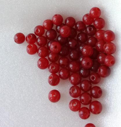 Korálky z minerálu Jadeit kuličky 6 mm kaštanové