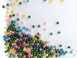 Korálky plast perličky 3-4 mm color mix
