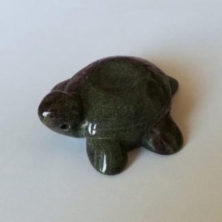 Přívěsek Serpentinit Želva 46 x 42 x 19 mm