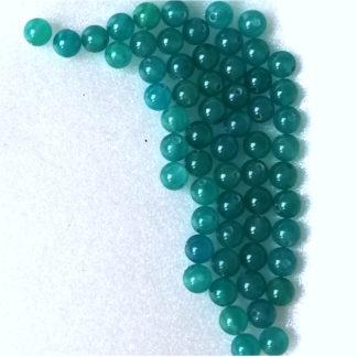 Korálky z minerálu Jadeit kuličky 6 mm tyrkys