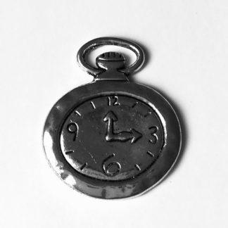 Kovový přívěsek Kapesní hodinky 28 x 30 mm