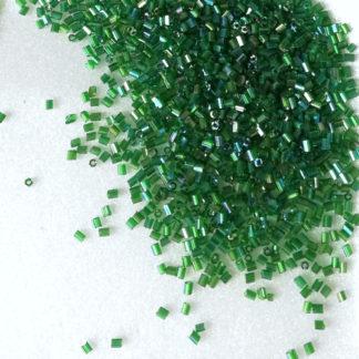 Korálky Rokajl tyčky 3 mm zelená s průtahem 15 g