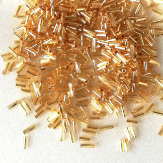 Korálky Rokajl tyčky 7 mm zlaté 15 g