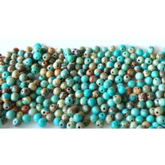Jaspis imperial azurový korálky 4 mm