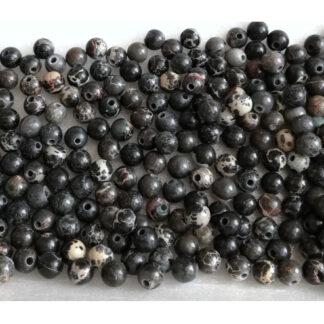 Jaspis imperial černý korálky 4 mm