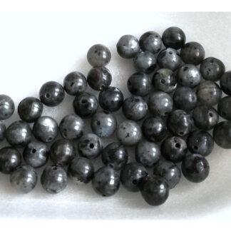 Larvikit korálky kuličky 6 mm